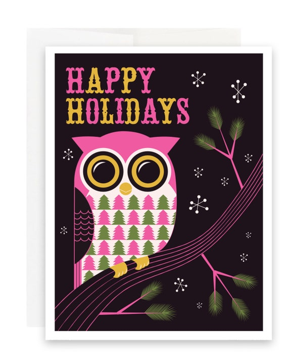 Happy Holidays Owl