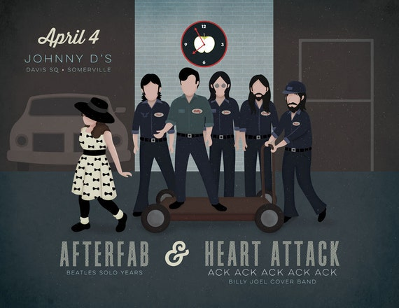 Heart Attack Ack Ack Ack Ack Ack Gig Poster at Johnny D's, Somerville, MA