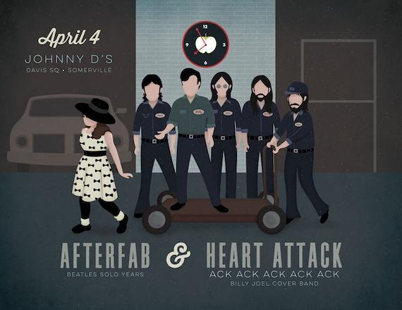 Heart Attack Ack Ack Ack Ack Ack Gig Poster at Johnny D's, Somerville, MA