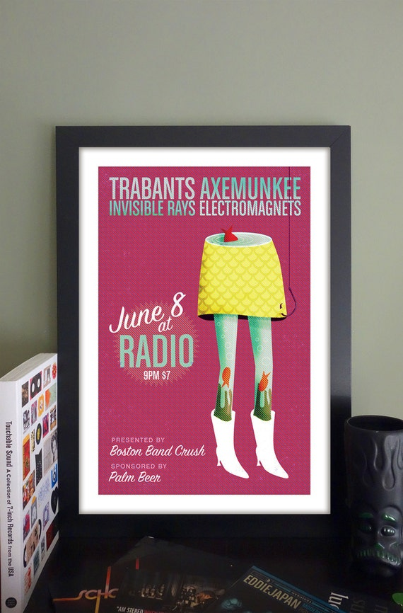 "Trabants Poster // Radio, Somerville, MA 13""x""19"""