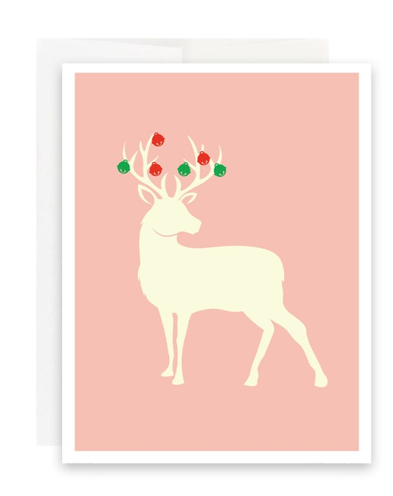 Jingle Bells Deer Christmas Card
