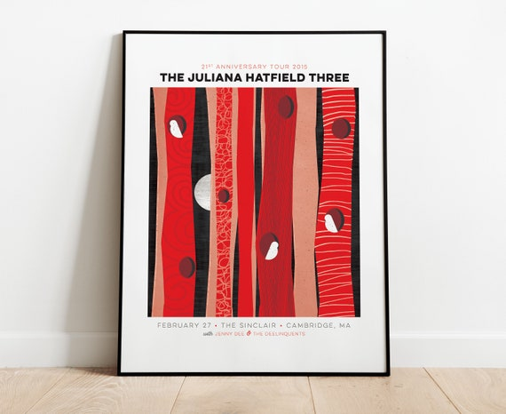 The Juliana Hatfield Three Gig Poster at The Sinclair, Cambridge, MA