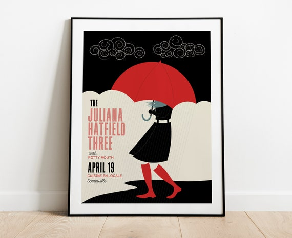 The Juliana Hatfield Three Gig Poster at Cuisine en Locale, Somerville, MA