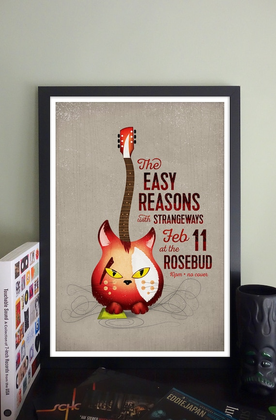The Easy Reasons Gig Poster at The Rosebud, Somerville, MA