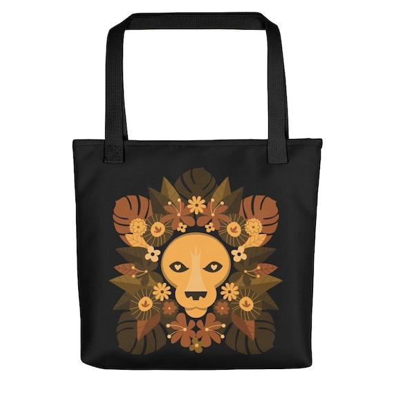Floral Lion Tote bag