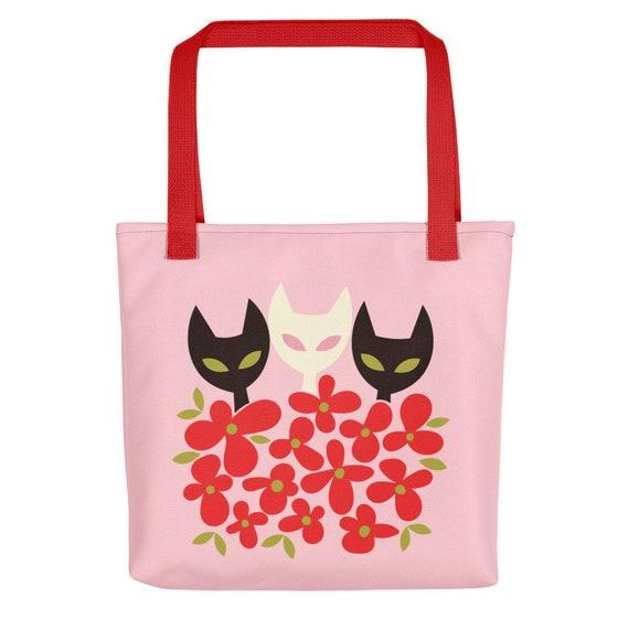 Flower Kitties Tote bag