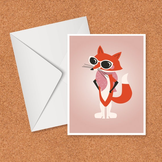 Glam Fox card