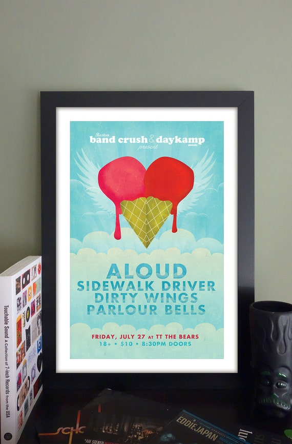 "Aloud Gig Poster // TT the Bear's Cambridge, MA 13""x19"""
