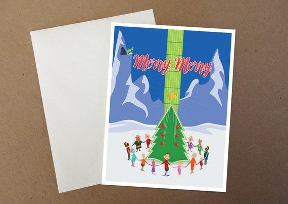 Guitar Tree Christmas Card