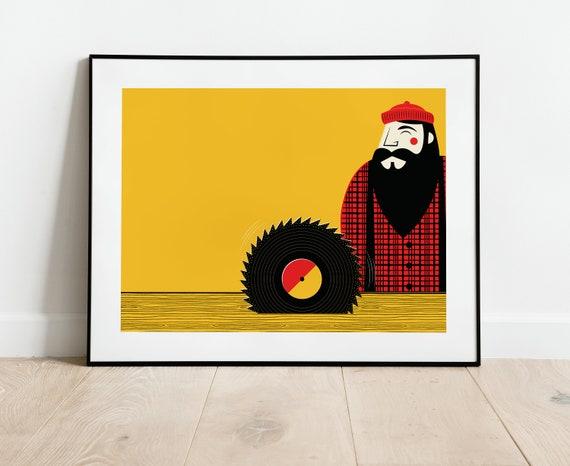 Lumberjack/Vinyl Record Saw