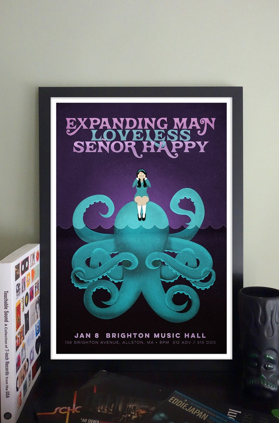 Expanding Man // Loveless // Señor Happy Gig Poster // Brighton Music Hall
