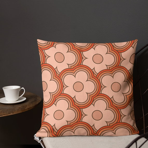 70s Flowers Premium Pillow