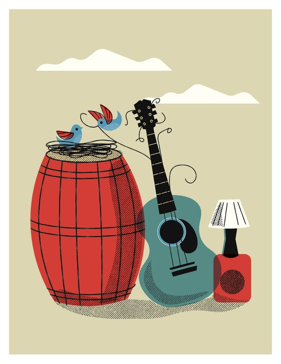 2 Birds, a Barrel and a Guitar