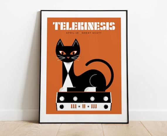 Telekinesis // Great Scott, Allston, MA, 16x20 screenprint.