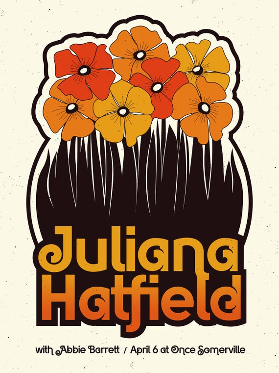 Juliana Hatfield 18x24 Screenprinted poster