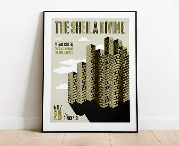 The Sheila Divine Gig Poster // The Sinclair, Cambridge, MA