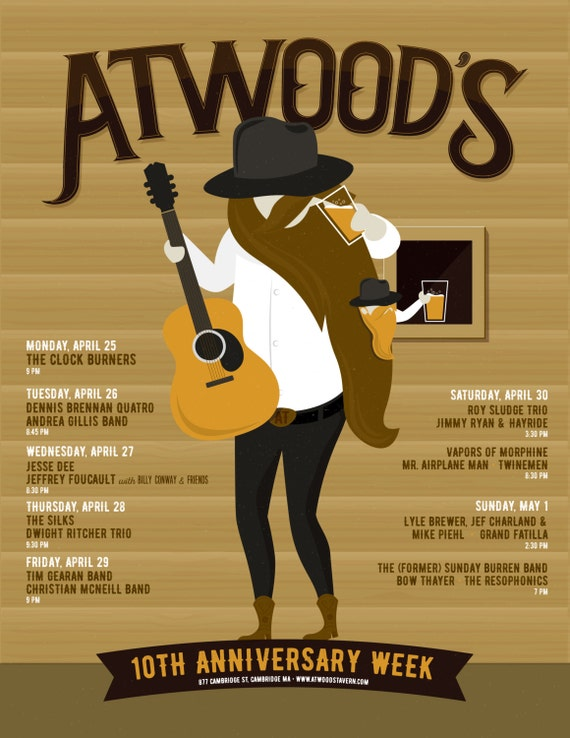 Atwood's 10th Anniversary Week Poster