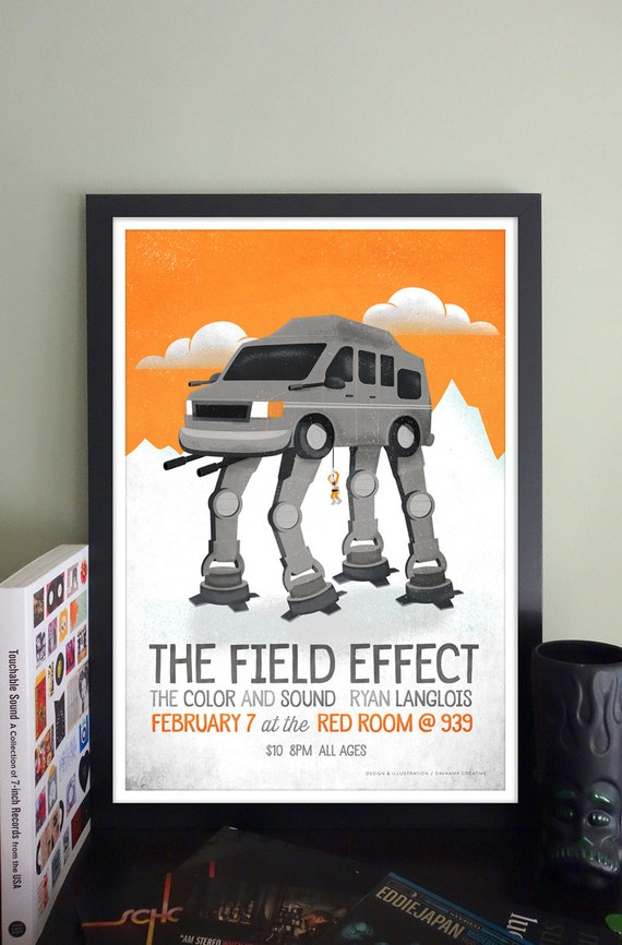 The Field Effect Gig Poster at The Red Room @ Cafe 939, Boston, MA