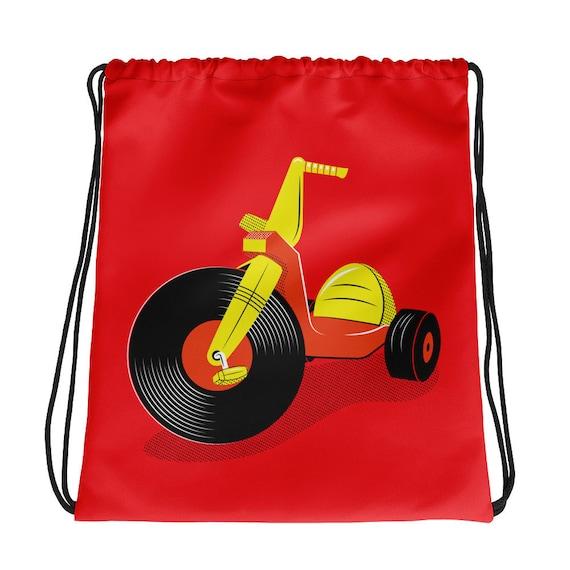 Vinyl Record Big Wheel Drawstring Bag