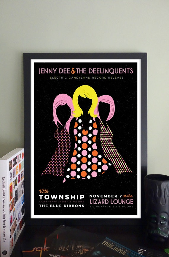 Jenny Dee & The Deelinquents Gig Poster // The Lizard Lounge, Cambridge, MA