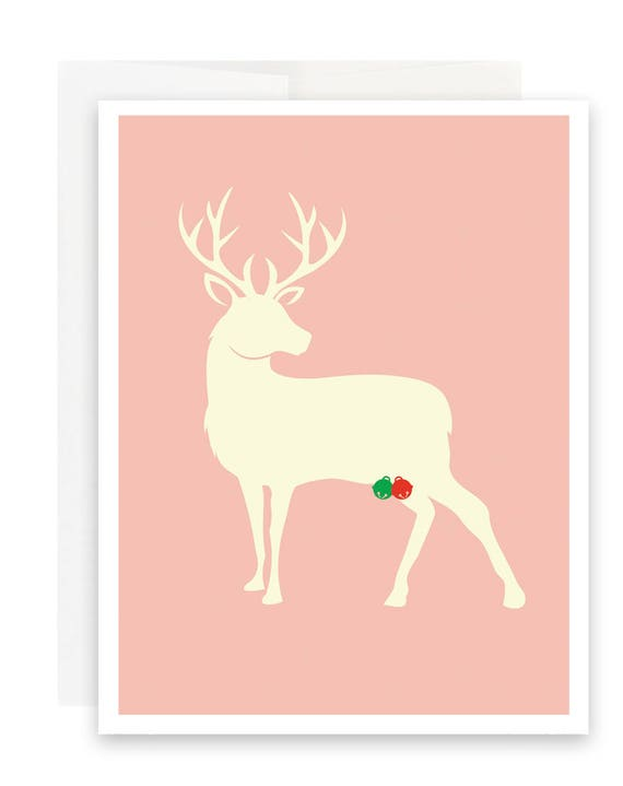 Jingle Balls Deer Christmas Card