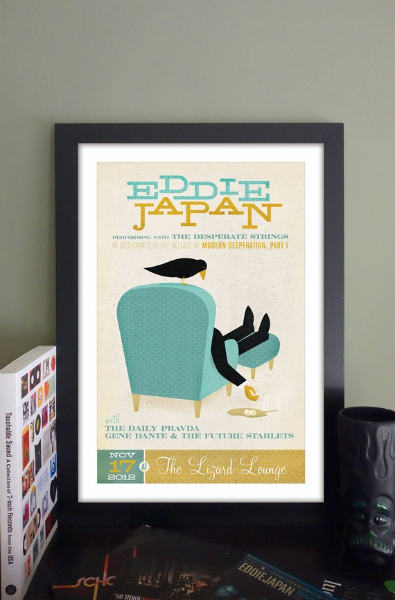 "Eddie Japan Gig Poster // The Lizard Lounge, Cambridge, MA 13""x19"""