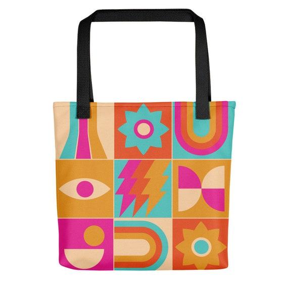 Orange and Pink Design Tote bag