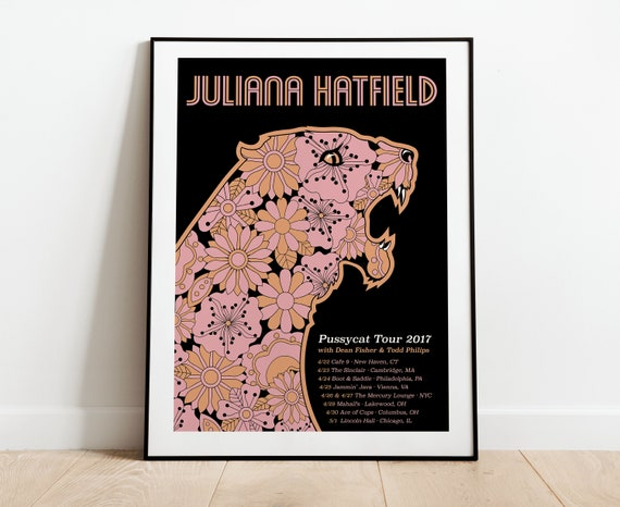 Juliana Hatfield Pussycat Tour Poster
