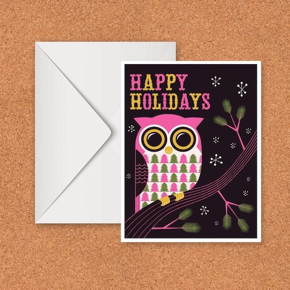 Happy Holidays Owl