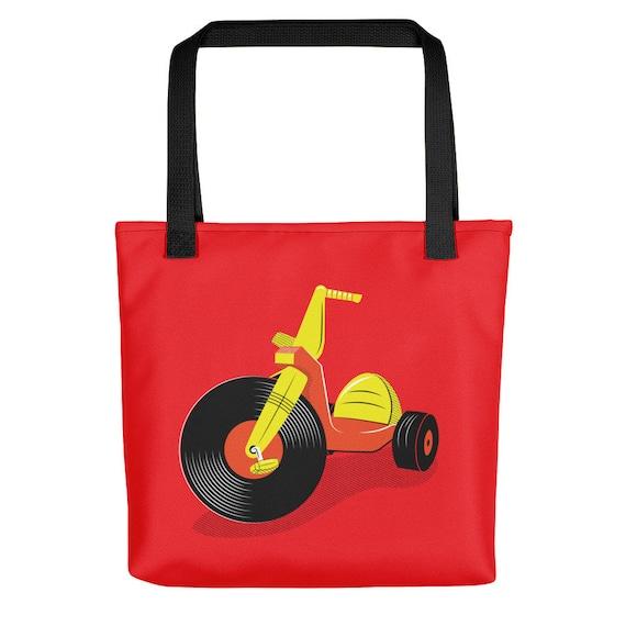 Vinyl Big Wheel Tote Bag