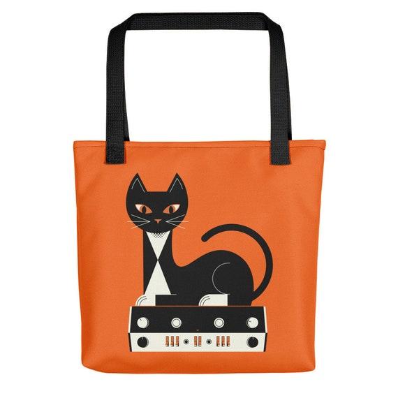 Stereo Cat Tote Bag