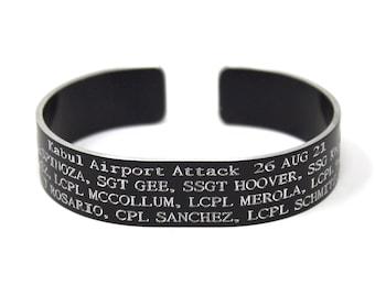 Kabul Airport Attack Bracelet   Memorial Bracelet   Hero Bracelet   Bracelet for the 13 Lost Service Members   KIA Band   Military Bracelet