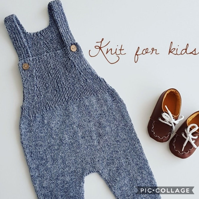 Knitted baby romperbaby overallsbaby shower knitted baby gift Knit romper knit one pieceboys pants  unisex clothing Handknit romper