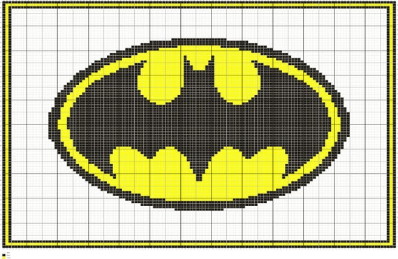 Batman Symbol Knitting Afghan Pattern Written And Graph