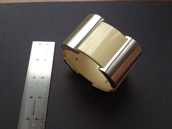 Mid-Century Modern Bangle Bracelet with Space Age