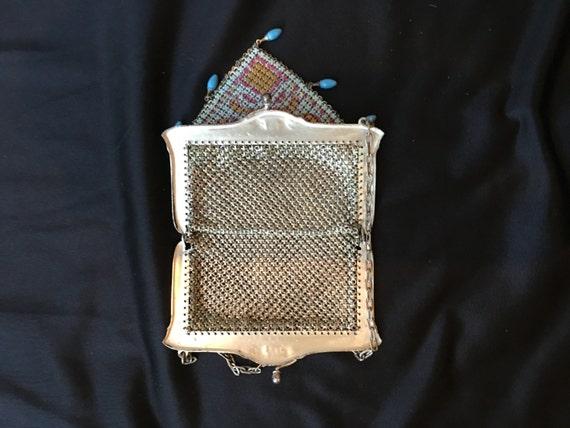 Mandalian enamel mesh purse, beautiful colors, 19… - image 3