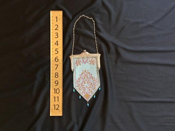 Mandalian enamel mesh purse, beautiful colors, 19… - image 4