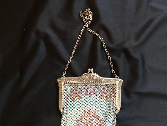 Mandalian enamel mesh purse, beautiful colors, 19… - image 2