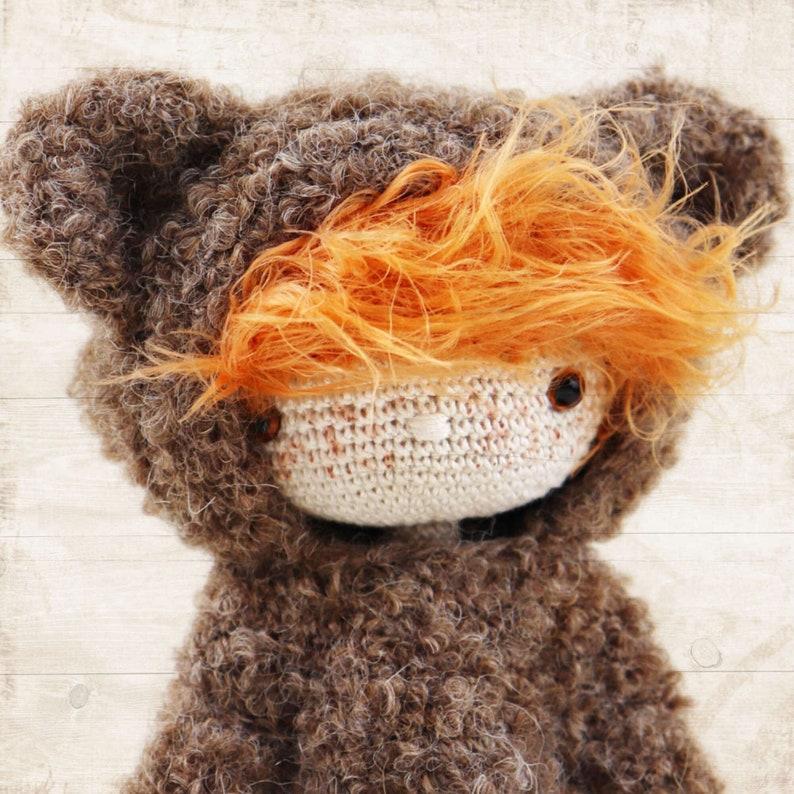 KAI Crochet PDF Pattern Amigurumi Doll in Bear Costume image 0