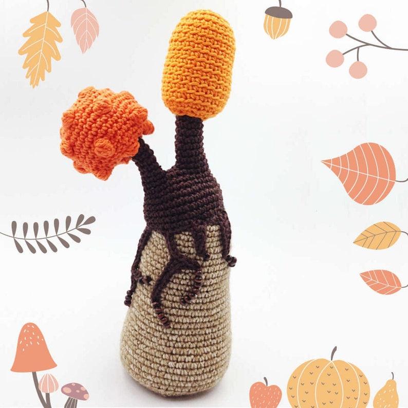 PUMPKIN TREE Crochet PDF Pattern Crochet Autumn Tree image 0