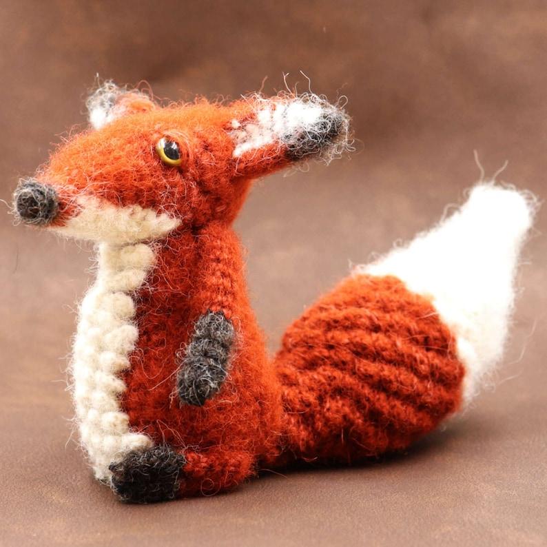 RUBBY Crochet PDF Pattern Fox Crochet Forest Animals image 0