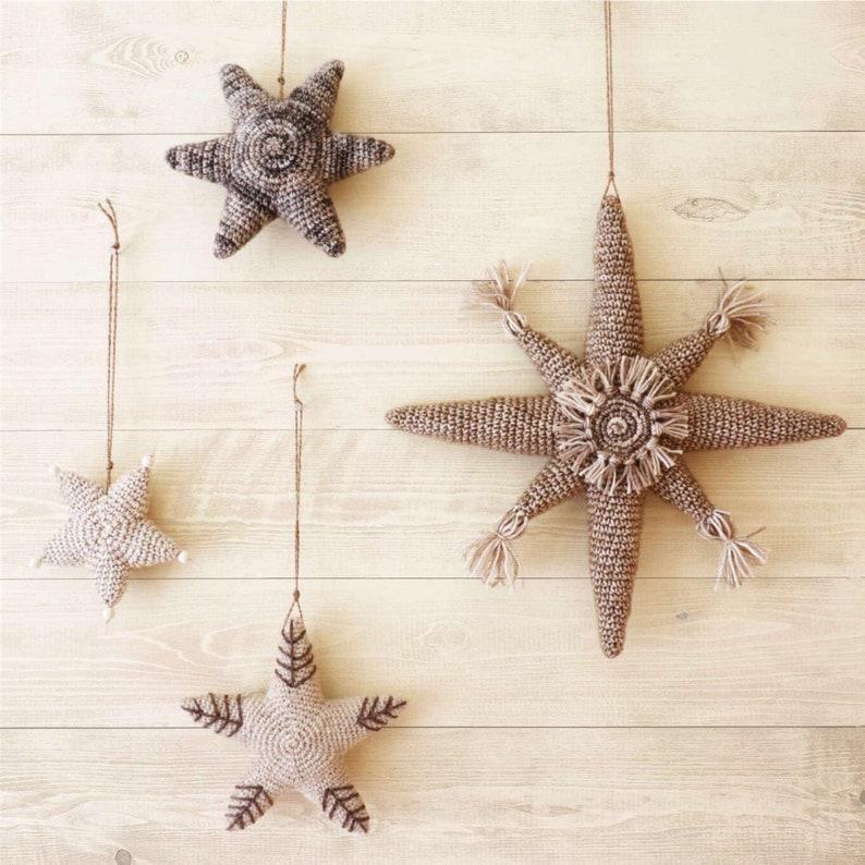 CHRISTMAS STARS Crochet PDF Pattern Christmas Decor Crochet image 0
