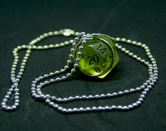 D20 Translucent Dice Necklace