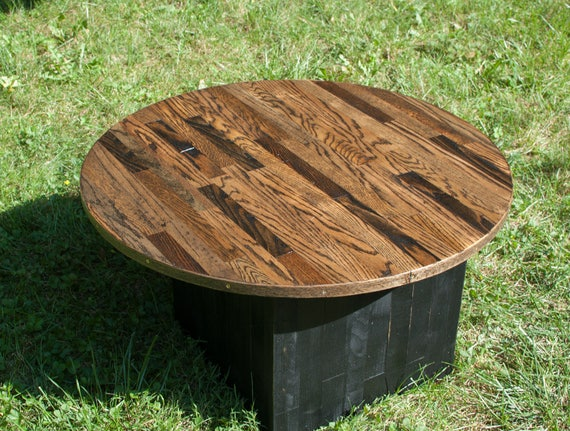 Astonishing Oak Floorboard Round Coffee Table Lamtechconsult Wood Chair Design Ideas Lamtechconsultcom