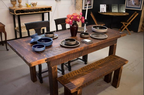 Prime Reclaimed 100 Year Old 6 Ft Rustic Barnwood Farmhouse Style Dining Table Bench Ibusinesslaw Wood Chair Design Ideas Ibusinesslaworg