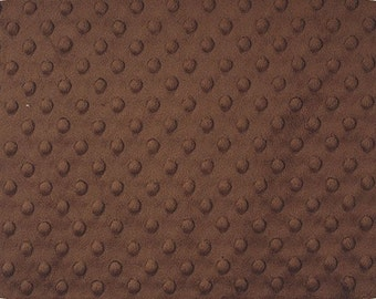 Brown Cuddle Minky Dimple Dot Fabric  by Shannon Fabrics Chocolate Cut to Order