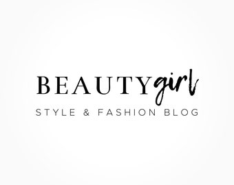 Beauty Style And Fashion Logo Design, Blog Logo, Blog Header, Business Logo, Black And White Logo, Premade Logo