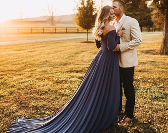 5e517ff8c94 Darah Royal Blue engagement Dress