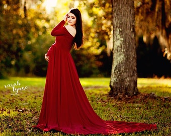 cd116693091 Darah Red Maternity Dress