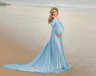 23819e0f7198a8 Darah Baby Blue Maternity Dress